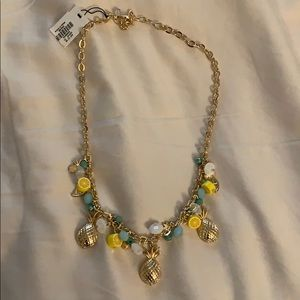 NWT Talbots gold pineapple necklace